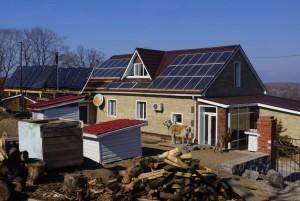 Солнечное отопление 13,2 кВт и ветро-солнечная система 6.6 кВт